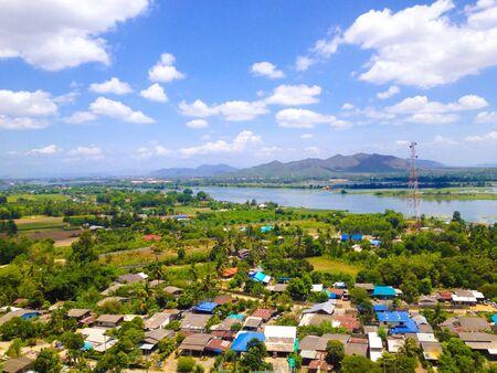 paisaje natural: Paisaje natural de la ciudad de Kanchanaburi, Tailandia