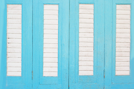 Wood blue vintage door photo