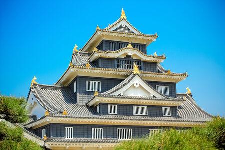 okayama: Okayama Castle or Crow Castle in Okayama, Japan