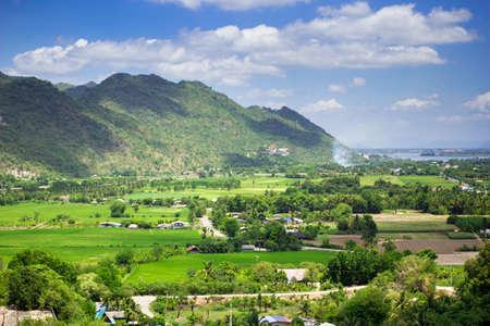 Natural view of Kanchanaburi city, Thailand photo