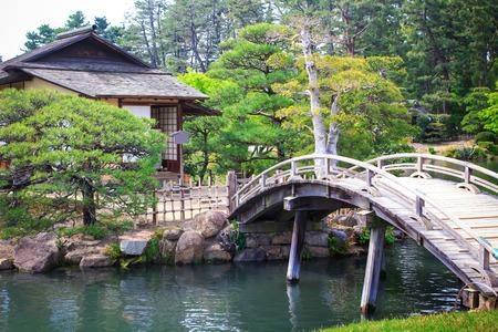 Korakuen Japanese Big garden in Okayama prefecture, Japan Stock Photo