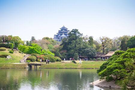 okayama: Korakuen Japanese Big garden in Okayama prefecture, Japan Editorial