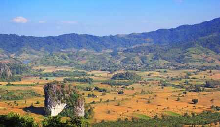 mistery: Natural view of mountain in Phayao province Thailand namely Phu Lang ka