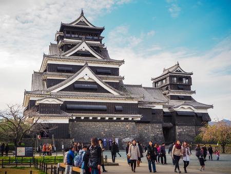 KUMAMOTO, JAPAN - Dec 05, 2015: Kumamoto castle in Kumamoto Prefecture, Japan. It is the third largest castle in Japan.