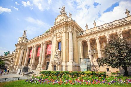 exhibition complex: PARIS, FRANCE - JULY 4, 2015: Grand Palais des Champs Elysees, historic site, exhibition hall and museum complex Editorial