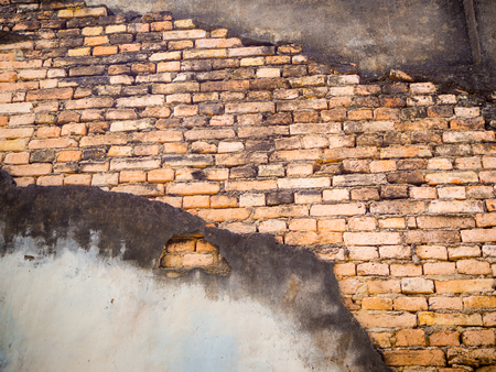 Old vintage brown brick wall for background Stock Photo