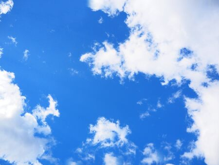 openair: Blue sky with cloud patterns Stock Photo