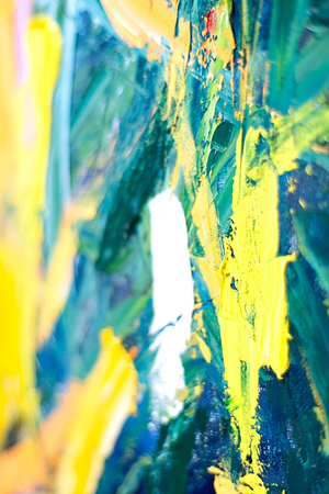 palette knife: Abstract fragment of my oil painting. Oil on canvas. Bokeh. Vignetting. shallow depth of field