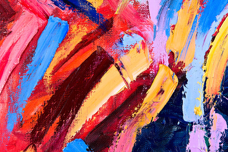 Oil on canvas. fragment of my painting. abstract background. focus on brushstrokes photo