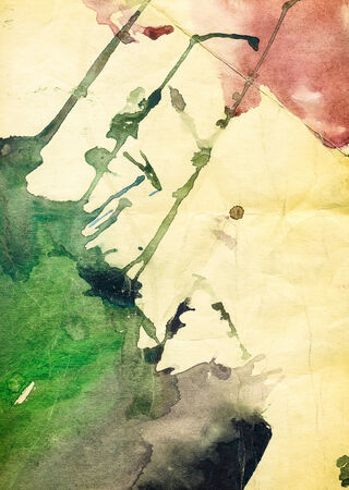 xxxl: old grunge multicolored watercolor paper background XXXL