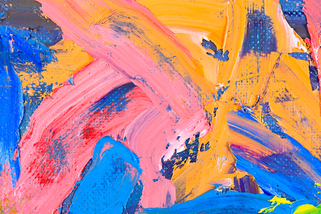 palette knife: Oil on canvas. fragment of my painting. abstract background. focus on brushstrokes