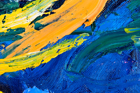 palette knife: Abstract fragment of my oil painting. Oil on canvas. focus on brushstrokes