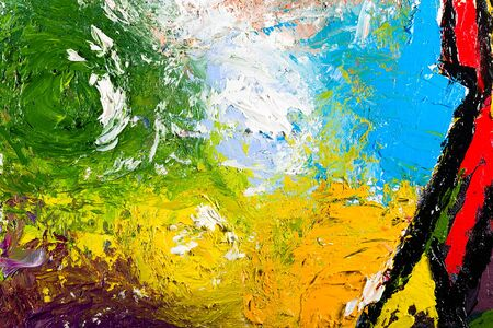 palette knife: abstract modern painting fragment. palette knife oil on canvas. artistic background