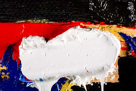 Original painting fragment, oil painting texture background photo