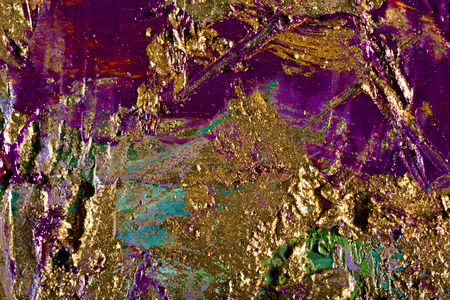 art abstract grunge golden background. Fragment of an original painting. Oil and mixed media on canvas photo
