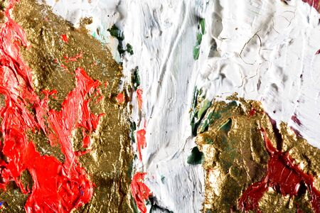 gilt: art abstract grunge golden background illustration. Fragment of an original painting. Gold luminescence. Oil and on canvas