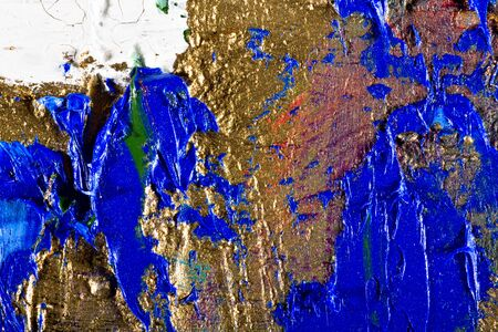 art abstract grunge golden background illustration. Fragment of an original painting. Gold luminescence. Oil and on canvas illustration