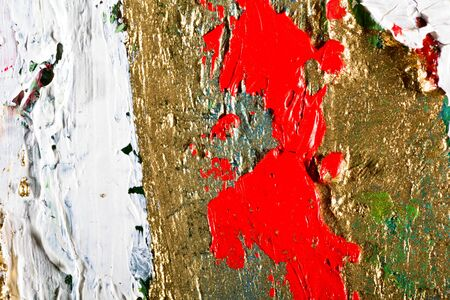 etude: art abstract grunge golden background illustration. Fragment of an original painting. Gold luminescence. Oil and on canvas
