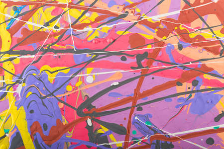 expressive: Fragment abstract modern painting background with expressive splashes of paint