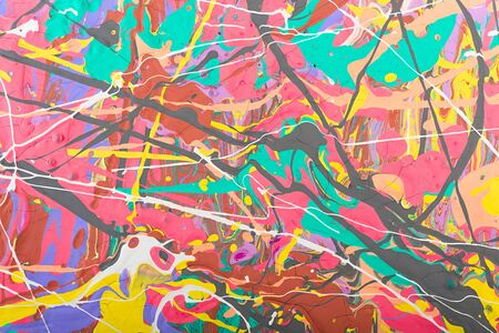 fragment: Fragment abstract modern painting background with expressive splashes of paint