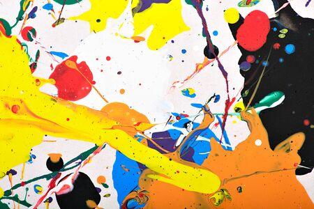 arte moderno: Resumen de acrílico fragmento pintura moderna. Arco iris de colores salpica textura. Arte contemporáneo. Pintura en Aerosol.