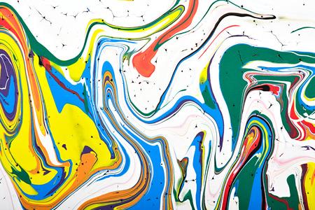 arte moderno: Resumen acr�lico fragmento pintura moderna. Arco iris de colores mancha textura. Arte contempor�neo. Pintura en Aerosol. Foto de archivo