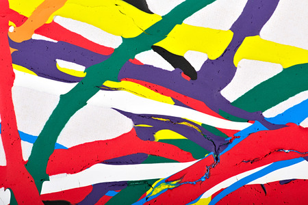 modern painting: Abstract acrylic modern painting fragment. Colorful rainbow streaks texture