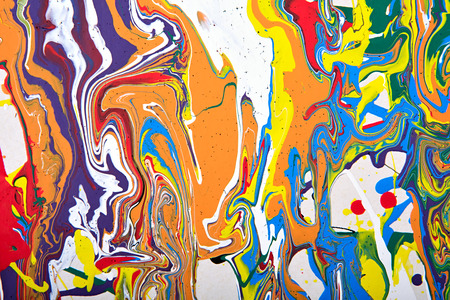 spray paint: Abstract acrylic modern painting fragment. Colorful rainbow stains texture. Contemporary art. Spray paint. Stock Photo