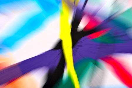 arte abstracto: Fondo multicolor abstracto. Desenfoque radial colorido, rayas de la luz, resplandor solar o starburst. Rayos de luz versicolor. Imagen generada digitalmente. Pintura acrílica con un efecto de zoom.