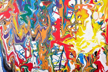 pintura abstracta: Resumen acr�lico fragmento pintura moderna. Arco iris de colores mancha textura. Arte contempor�neo. Pintura en Aerosol. Foto de archivo