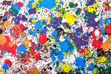 multilayer: Abstract acrylic modern painting fragment. Colorful rainbow splashes texture. Contemporary art. Spray paint.