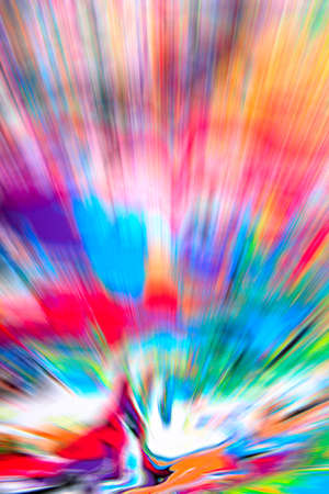 heavenly light: Abstract multicolored background. Colorful radial blur, streaks of light, sunburst or starburst. Rays of versicolor light. Digitally generated image. Acrylic painting with a zoom effect.