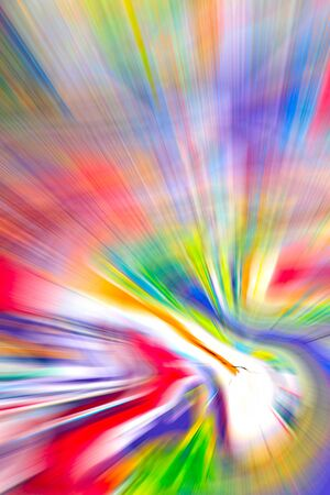 Abstract multicolored background. Colorful radial blur, streaks of light, sunburst or starburst. Rays of versicolor light. Digitally generated image. Acrylic painting with a zoom effect. photo