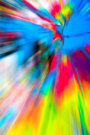Abstract multicolored background. Colorful radial blur, streaks of light, sunburst or starburst