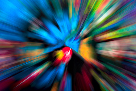 Abstract multicolored background. Colorful radial blur, streaks of light, sunburst or starburst photo