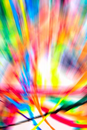 streaks: Abstract multicolored background. Colorful radial blur, streaks of light, sunburst or starburst