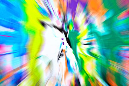 streaks of light: Abstract multicolored background. Colorful radial blur, streaks of light, sunburst or starburst. Rays of versicolor light. Digitally generated image. Acrylic painting with a zoom effect.