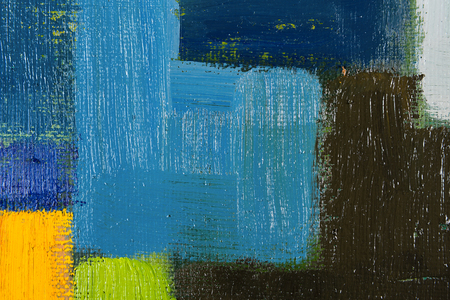 fineart: abstract wallpaper, texture, background of an original oil green and blue painting on canvas with brush strokes.