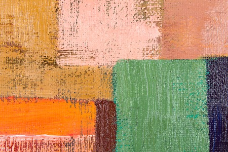 abstract wallpaper, texture, background of an original oil orange, green and beige painting on canvas with brush strokes.