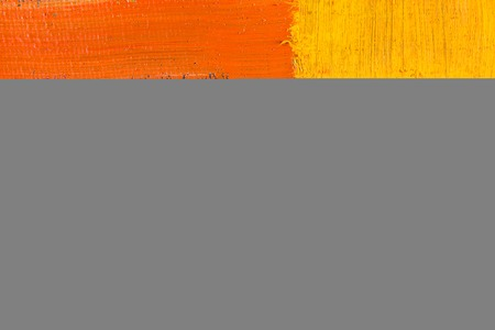 spot the difference: abstract wallpaper, texture, background of an original oil yellow, orange and red painting on canvas with brush strokes.