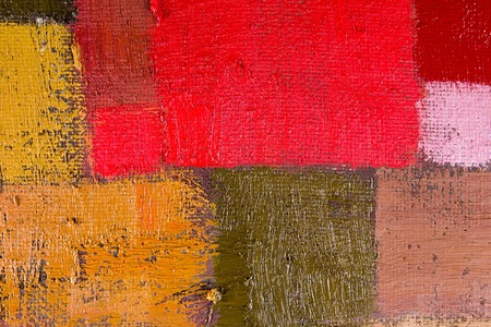 fineart: abstract wallpaper, texture, background of an original oil orange, red and brown painting on canvas with brush strokes.