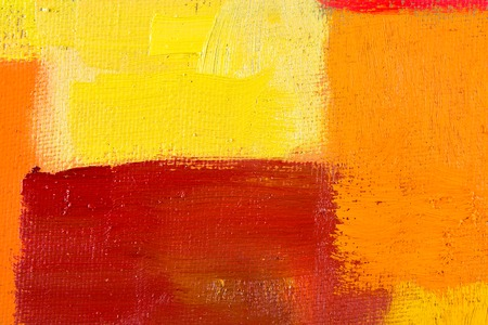 abstract wallpaper, texture, background of an original oil yellow, orange and red painting on canvas with brush strokes.