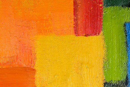 spot the difference: abstract wallpaper, texture, background of an original oil painting on canvas with brush strokes.