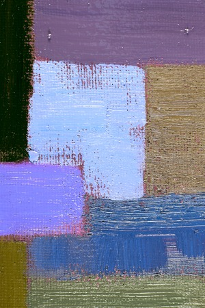 cool colors: abstract background of an original oil painting in cool colors on canvas with brush strokes texture. Stock Photo