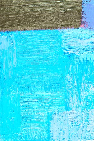 abstract background of an original oil painting in cool colors on canvas with brush strokes texture. photo
