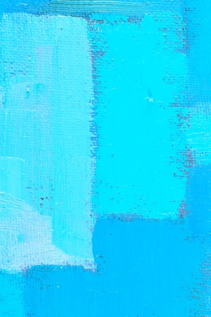 spot the difference: abstract background of an original oil painting in cool colors on canvas with brush strokes texture. Stock Photo