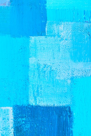 abstract background of an original oil painting in cool colors on canvas with brush strokes texture. Фото со стока