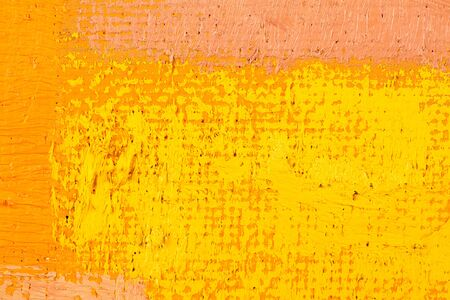 abstract wallpaper, texture, background of close-up fragment of oil painting on canvas with brush strokes. photo