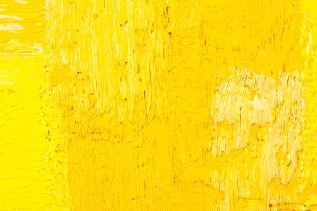 amarillo: Papel pintado abstracto, textura, fondo del fragmento de primer plano de la pintura al óleo sobre lienzo con pinceladas. Foto de archivo
