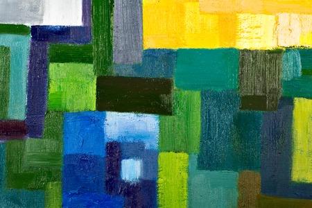 arte moderno: textura de fondo abstracto de un aceite pintura geom�trica original de fragmentos de primer plano sobre lienzo con pinceladas.